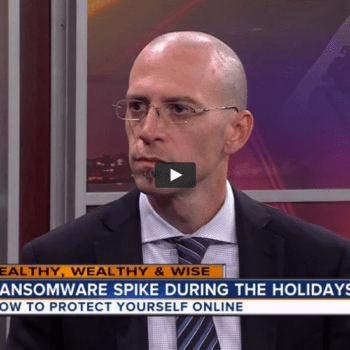 MonsterCloud's CEO Zohar Pinhasi on WPTV – Ransomware Spikes During The Holidays